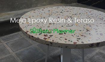 Meja Epoxy Resin dan Teraso