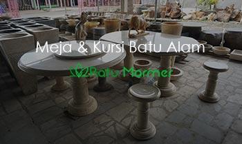 Meja dan Kursi Batu Alam