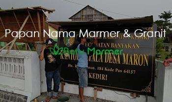 Papan Nama Marmer dan Granit