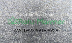 Lantai Granit Java Black Bakar