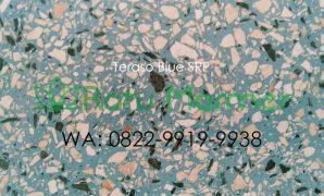 Ubin lantai teraso cetak Blue SRP
