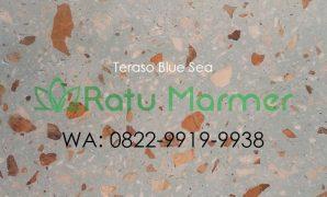 Ubin lantai teraso cetak Blue Sea