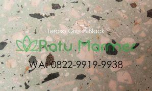 Ubin lantai teraso cetak Green Black