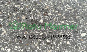 Ubin lantai teraso cetak Grey Bintik