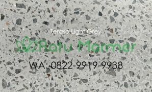 Ubin lantai teraso cetak Light Grey