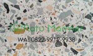 Ubin lantai teraso cetak Mix Grey