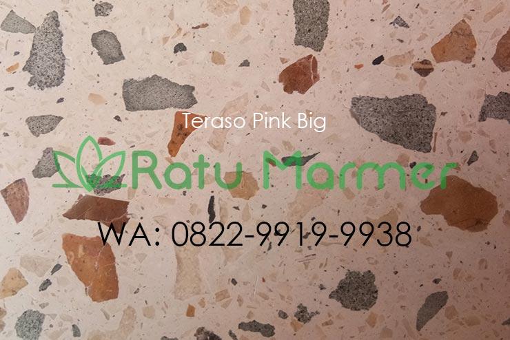 Ubin lantai teraso cetak Pink Big
