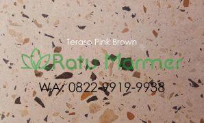 Ubin lantai teraso cetak Pink Brown
