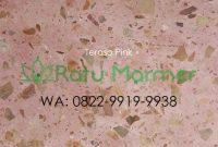 Ubin lantai teraso cetak Pink