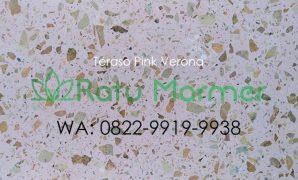 Ubin lantai teraso cetak Pink Verona