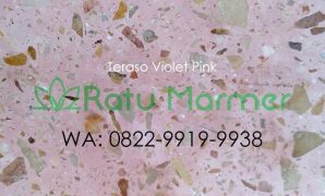 Ubin lantai teraso cetak Violet Pink