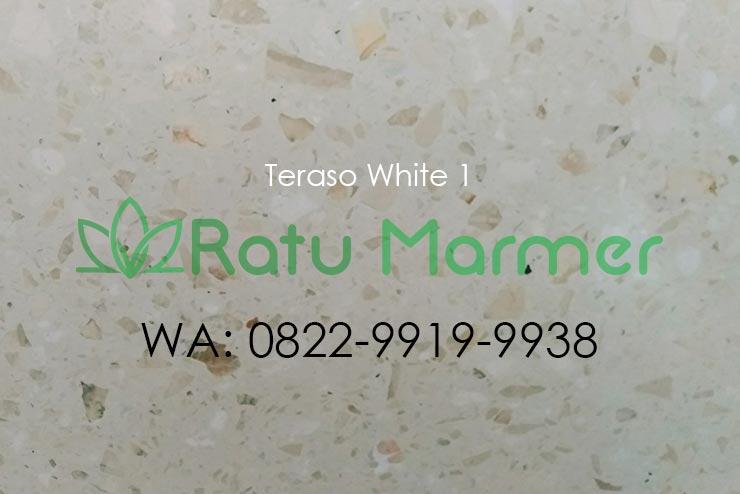 Ubin lantai teraso cetak White 1