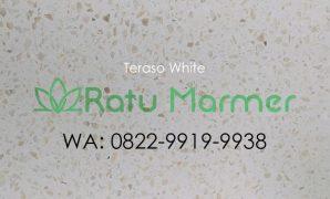 Ubin lantai teraso cetak White